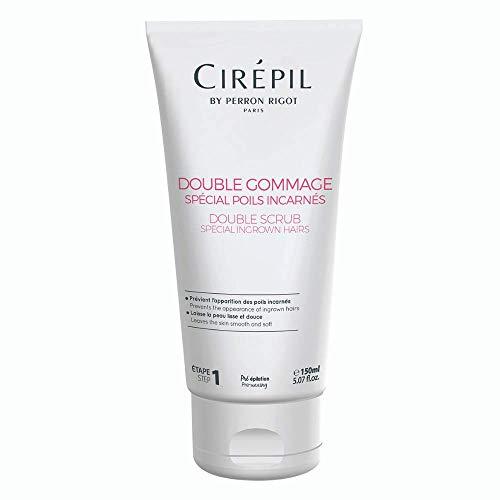 Cirépil - Double gommage spécial poils incarnés - Soin pré épilation - Tube 150 ml