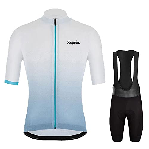 AIISHY Men's Cycling Suit Set, Cycling Sports Jacket + Shorts for Cycling Riding Running,A,M