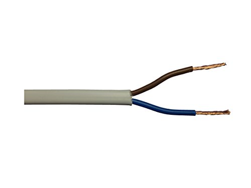 bianco o nero flessibile 3 m bianco 3/A 0,5/mm piatto Cavo elettrico bipolare 2192Y