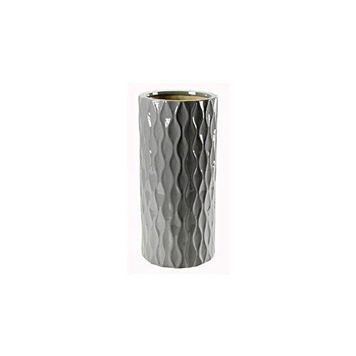 GICOS IMPORT EXPORT SRL Portaombrelli ceramica d. 23 h. 51 cm grigio chiaro