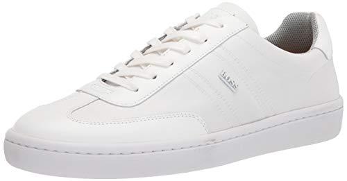Hugo Boss mens Nylon Low Top Sneaker, Chalk White, 12 US