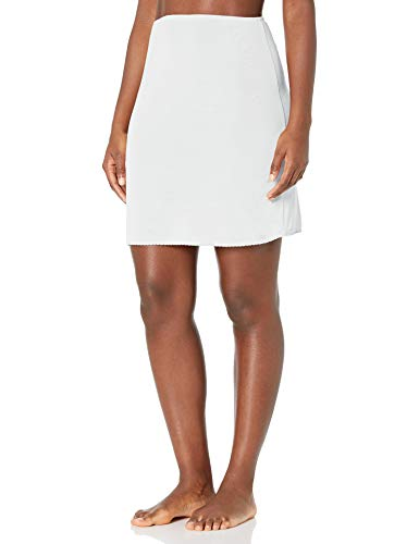 Jones NY Women's Silky Touch 19 Anti-Cling Above Knee Half Slip, White, M