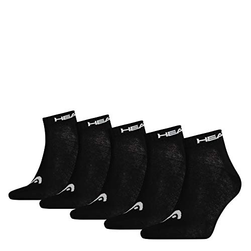 Head Quarter Unisex, Black, 39/42, Pack Of 5