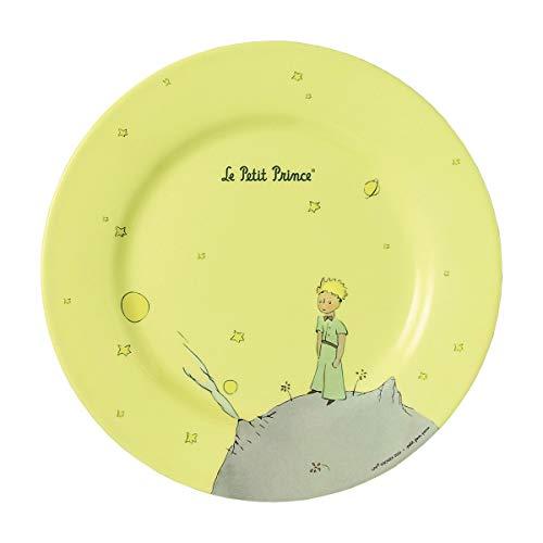 Petit Jour Paris - PP957JP - Assiette jaune Le Petit Prince 23 cm - Parfaite pour les petits gâteaux