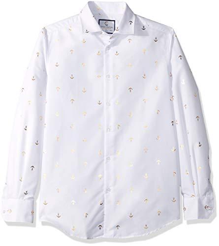 Azaro Uomo Herren Shiny Dress Shirt Wrinkle Free Casual Button Down Untucked...