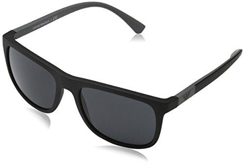 EMPORIO ARMANI 0EA4079 Gafas de sol, Matte Black, 57 para Hombre
