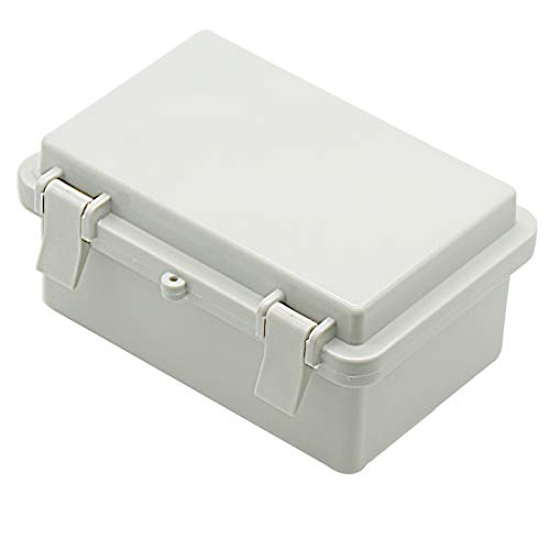 Zulkit Junction Box ABS Plastic Dustproof Waterproof IP65 Electrical Boxes Hinged Shell Outdoor Universal Project Enclosure With Lock 5.9 x 3.9 x 2.8 inch (150x100x70mm)