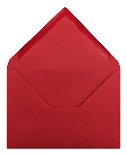 75 Briefumschläge DIN C6 Kirschrot - 11,4 x 16,2 cm - Kuvert mit 100 g/m² Nassklebung spitze Klappe - Umschläge ohne Fenster - Colours-4-you