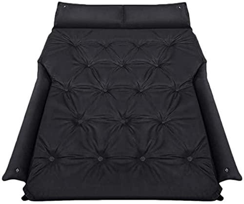 angelHJQ Cama de viaje de coche, colchón de aire inflable portátil asiento trasero soplado almohadilla de dormir para viajes camping vacaciones al aire libre