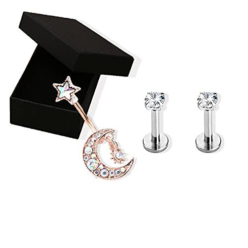 Anello personalizzato per ombelico, gioielli piercing, piercing per ombelico in acciaio inossidabile,Piercing al labbro