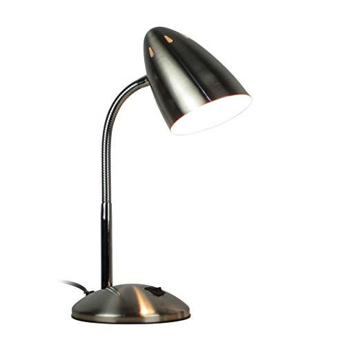 Lámpara Escritorio LED Lámpara de escritorio de metal Lámpara de escritorio de cuello de ganso flexible Lámparas de estudio que...