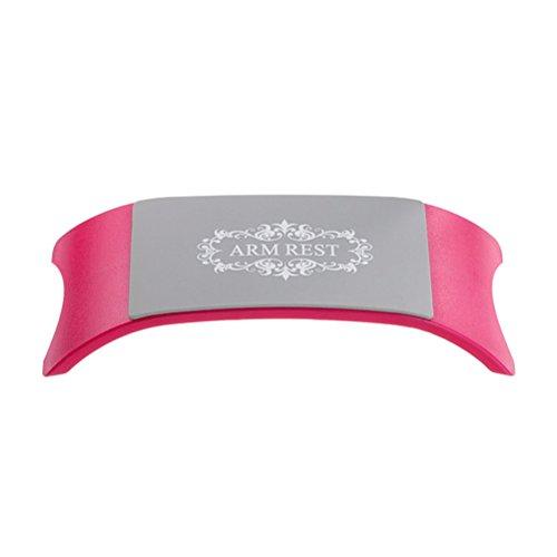 Frcolor Maniküre Zubehör Silikon Handauflage /weiches Nail Art Kissen (Rose Farben)