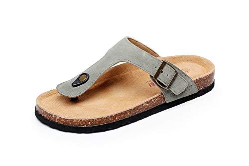 Hombre Mujer Zuecos Sandalias Unisex Adulto Chanclas Vestir Punta Descubierta Corcho Zapatillas Playa Verano Casa Zapatos(Verde,38/39 EU,24CM De talón a Dedo del pie,40 Talla del Fabricante
