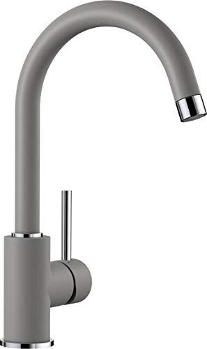 BLANCO MIDA – Küchenarmatur mit hohem, gebogenen Auslauf – Hochdruck – Grau – 519416