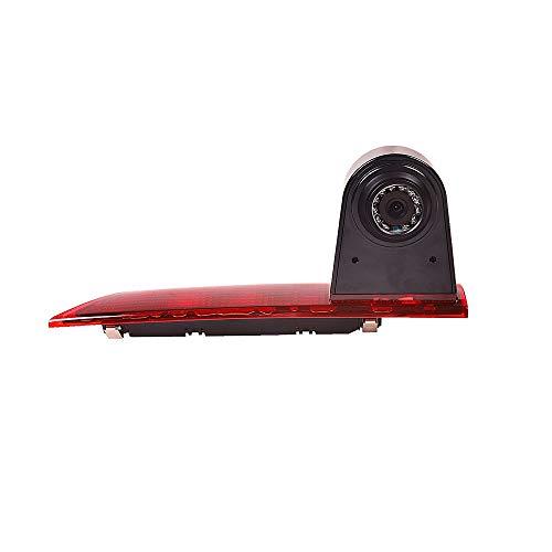 Rückfahrkamera Transporter Kamera an 3. Bremsleuchte Dachkante Einparkhilfe (NTSC) für Ford Transit Custom ab 05/2016 mit geteiltem LED-Bremslicht