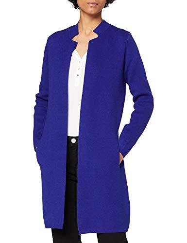 Morgan Veste Droite à Col cranté Mblock Chaqueta Recta con Cuello de Muesca, Bleu Electrique, S para Mujer