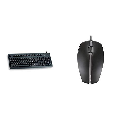 CHERRY G83-6000 ist die zuverlässige, millionenfach bewährte Standard-Tastatur mit weicher Tastenbetätigung und voller Recyclingfähigkeit. & ERRY GENTIX Corded Optical Mouse Schwarz