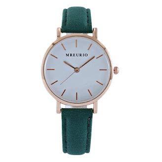 Mode nya damer klocka, middle school student klocka, enkel atmosfär klocka, bälte watch,Green