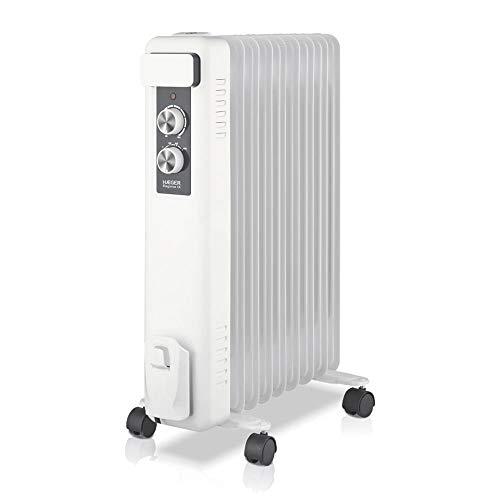 HAEGER Elegance IX - Calefactor Radiador Eléctrico de Aceite con 2000W de Potencia, 3 velocidades - termostato Regulable, 5 Canales de Aceite, 3 configuraciones de Calor, Almacenamiento del Cable.