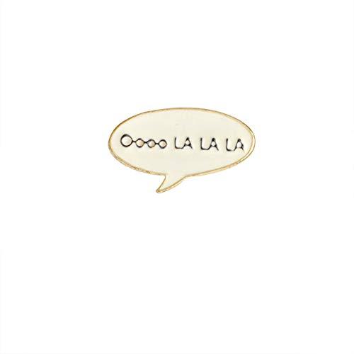 TaxpyBath Mats Dibujos Animados Suministros Diarios Pin Flecha relámpago Música Nota Oooo LA LA LA Esmalte Duro Insignia de Pin de Solapa Broche único Accesorio