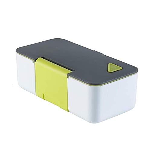 Lqpfx-fh Boîte à lunch 770mL, Bento Box Adult Lunch Box Leakproof Conteneurs, Téléphone étanche Support Micro-ondes chauffée Déjeuner de stockage des aliments Bento Box Container (Couleur: Bleu)