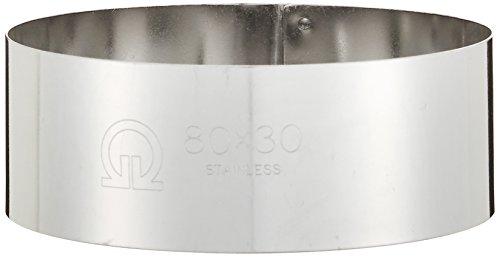 遠藤商事 業務用 セルクルリング丸型 φ80×H30mm 18-0ステンレス 日本製 WSL08036