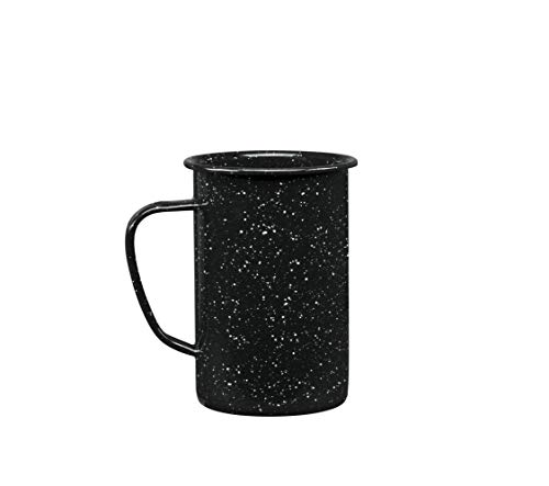 Cinsa 6 Pieces 21OZ Enamelware Tall Mug Set. Ideal for Beer, Coffee, Tea, Water in Outdoors activities. Suitable for All Stovetops Including Induction or direct fire. Durable, Dishwasher safe.