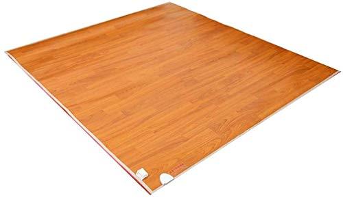 XRYM Heizkissen Teppichboden-Heizung, Holz-Streifen-Kohlenstoff-Kristall-Heizkissen Fußbodenheizung Pad mit...