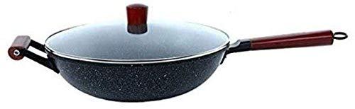 Multifunctionele Wok Maifan Stone Smokeless pan met antiaanbaklaag gemakkelijk schoon te maken Elektrische barbecue (Upgrade) QIANGQIANG