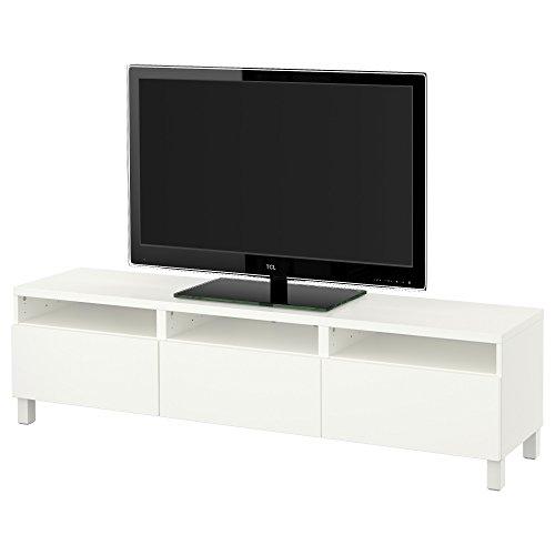 IKEA BESTA - TV-Bank mit Schubladen Lappviken weiß