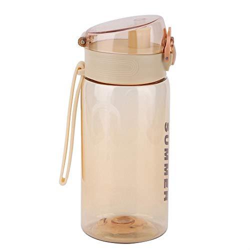 500 ml kinderwaterfles, studentenwaterbeker met brede, lekvrije karabijnhaak uitloop groot met reistagring 1