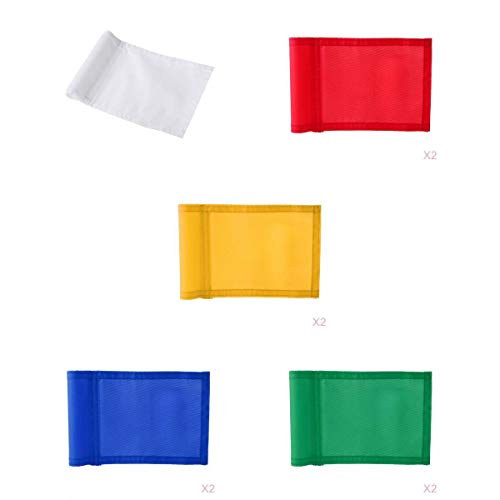 Amagogo 9 Pieces 7'x5' Nylon Golf Putting Practice Green Flag Backyard Target Flags