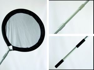 Koikescher, Kescher, 80cm mit Teleskopstil