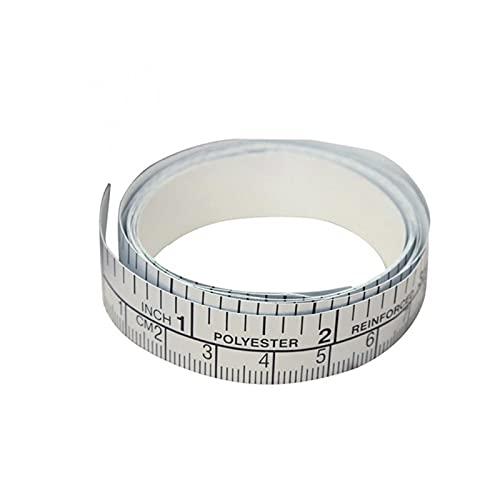 Qxinjinx Cinta métrica 150 cm Medida métrica de PVC Cinta de Regla Suave DIY Autoadhesivo de medición de la Cinta Adhesiva de la Regla de la Etiqueta de la Herramienta de Costura doméstica Accesorio