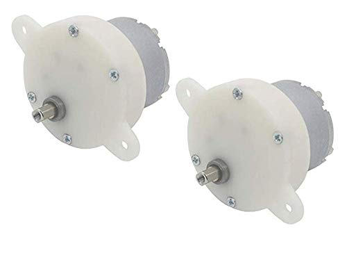 Lheng DC Miniature Geared Motor 12V 10RPM Small Motor Motor with Terminal Mute Gear 2Pcs