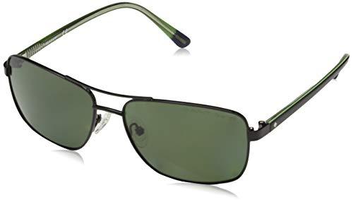 Gant GA7063 Gafas de sol, Negro (Shiny Black/Green...