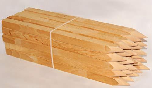 25st. Buchenholz Holzpflöcke 50cm für Vermessung und Garten, Holz pfosten