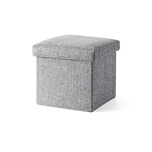 LFF Coffre de Rangement Pliant, Repose-Pieds Repose-Pieds Ottoman Siège de Pique-Nique Portable Polyvalent Cubes permettant de Gagner de la Place 25 x 25 x 25 cm (Couleur : Gray)