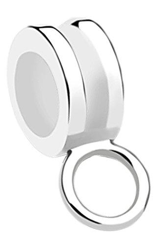Nenalina Charmträger Bead hochglänzend für Charms in 925 Sterling Silber, auch kompatibel für Pandora Beads Armbänder, 719043-000