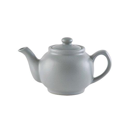 Price & Kensington, 2 Tassen Teekanne, Steingut, grau, matt