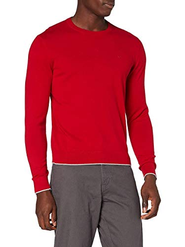 ARMANI EXCHANGE Pullover Sweater Maglione, Rosso Rubino, XL Uomo