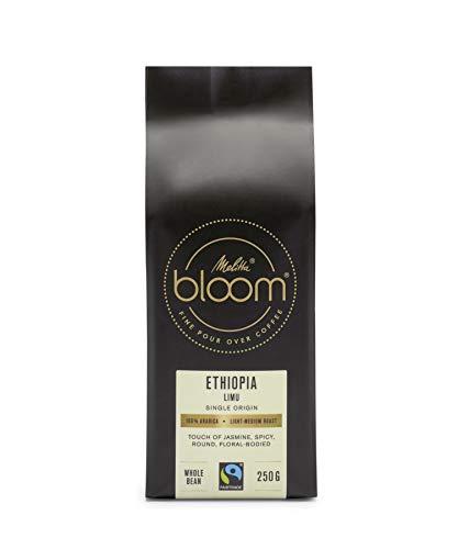 Melitta BLOOM Ethiopia Limu: Pour Over Kaffee, blumig-würzig, ganze Bohne, Fairtrade, 100% Arabica, Single Origin, 250g