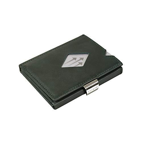Exentri EXENTRI Leder Dreifachgefaltete Brieftasche - RFID-Schutz mit Verschlussclip aus Edelstahl
