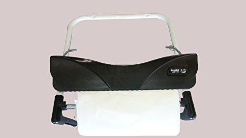 YMBERSA Nayade System Dispensador de Papel Bobina Industrial Pared Blanco. con Cuchilla para facilitar el Corte.