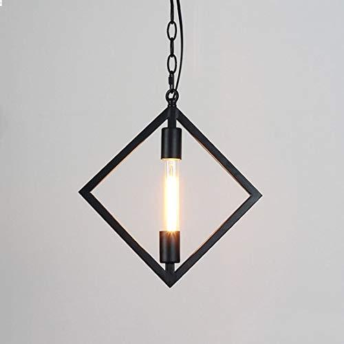 XIAOXY Creativo cavo a catena regolabile retrò lampade a soffitto industriale illuminazione a sospensione vintage E27 Edison sospensione sospesa luce soggiorno lampadario sala da pranzo arredamento dr