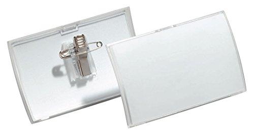 Durable 821119 Namensschild Click Fold mit Kombiklemme (40 x 75 mm) 25 Stück
