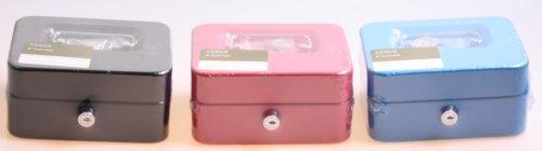 Tesco Cash box Geldkassette Geldkasse Sparkassette 6 Kleingeld Fächer, Farbe der Geldkassette:Schwarz