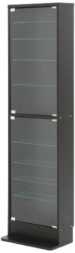 不二貿易 コレクションケース フィギュアケース 浅型 10段 高さ180cm ブラック ハイタイプ 96071
