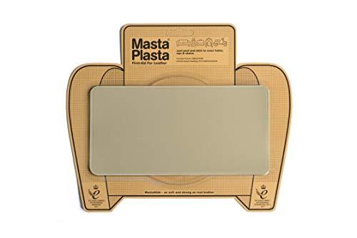 MastaPlasta Patch Beige Autocollant pour la Réparation des Cuirs. Choisissez la Taille. Premiers Secours pour canapés, sièges de Voiture, Sacs à Main, Vestes, etc.
