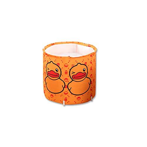 Draagbare whirlpool, opvouwbare soaking badkuip voor douchecabine, vrijstaand badkuip, oranje A